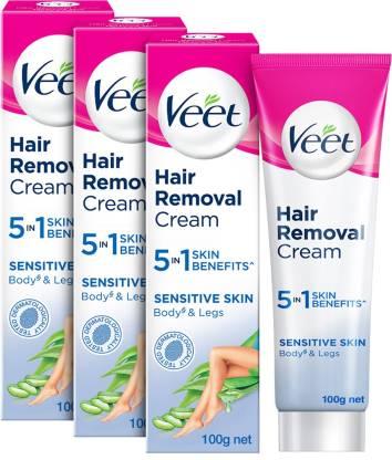 Veet Silk and Fresh Sensitive Skin Hair Removal Cream 100g Pack of 3 Cream