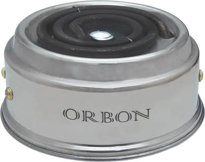 Orbon Baby Stainless Steel 500 Watts Electric Coil Cooking Stove   Hookah Coal Burner   Electric Cooking Heater   Induction Cooktop   Coil Hot Plate Cooking Stove   Works With All Cookwares (Silver) Radiant Cooktop