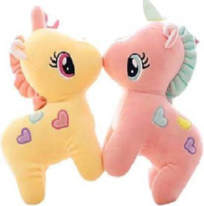 Renox Combo of 2 cute Unicorn yellow & pink Plush Toy for Kids, Gift &  Decoration (teddy bear) - 25 cm - Combo of 2 cute Unicorn yellow & pink Plush  Toy