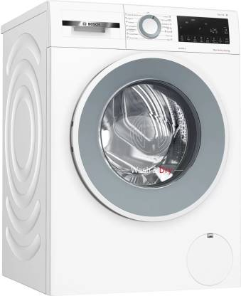 BOSCH 10/6 kg Fully Automatic Front Load Washer with Dryer with In-built Heater White