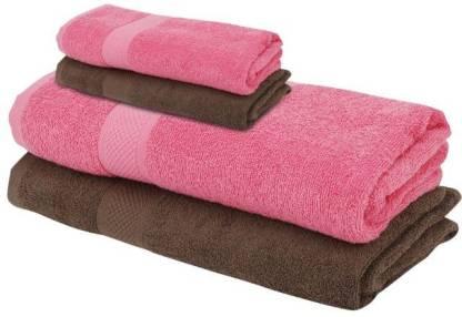 NANDAN GEMS Cotton 380 GSM Bath Towel Set