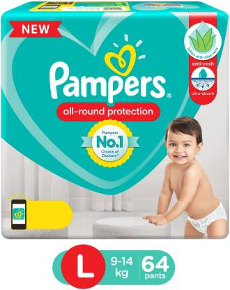 Pampers Pant Style Diapers Lotion with Aloe Vera - L