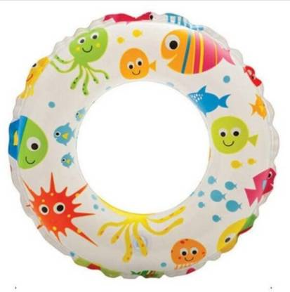 SANJARY floating ring inflatable play equipment children's swimming pool life circle swimming pool (FISH DESIGN) Inflatable Swimming Safety Tube  (MULTICOLOOUR)