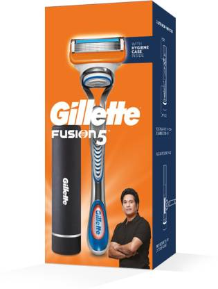 GILLETTE Fusion Razor (Sachin Tendulkars Pack) with Hygiene Case