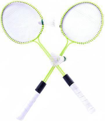 SBM racket double road with 2 nylon cock Badminton Kit