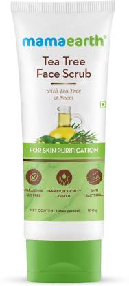 MamaEarth Tea Tree Face Scrub with Tea Tree and Neem for Skin Purification Scrub