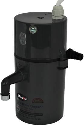 UltinoPro 1 L Instant Water Geyser (Indias ULT-ino Pro Instant Electric Water Geyser    ABS Body- Shock Proof    Electric Saving   24 Month replacement Warranty (Black), Black)