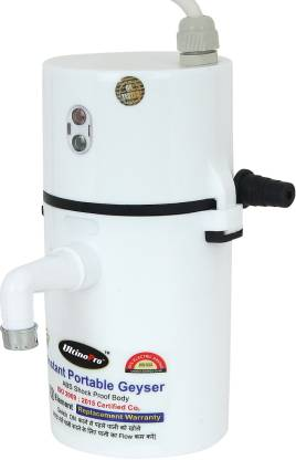 UltinoPro 1 L Instant Water Geyser (Indias ULT-ino Pro Instant Electric Water Geyser || ABS Body- Shock Proof || Electric Saving|| 24 Month replacement Warranty (White), White)