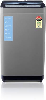 MOTOROLA 8 kg 5 Star Hygiene Wash Fully Automatic Top Load with In-built Heater Grey