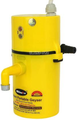 UltinoPro 1 L Instant Water Geyser (Indias ULT-ino Pro Instant Electric Water Geyser || ABS Body- Shock Proof || Electric Saving|| 24 Month replacement Warranty (Yellow), Yellow)