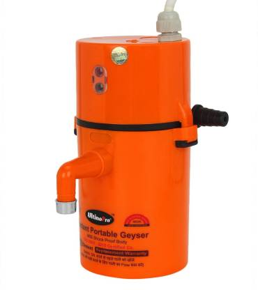 UltinoPro 1 L Instant Water Geyser (Indias ULT-ino Pro Instant Electric Water Geyser    ABS Body- Shock Proof    Electric Saving   24 Month replacement Warranty (Orange), Orange)