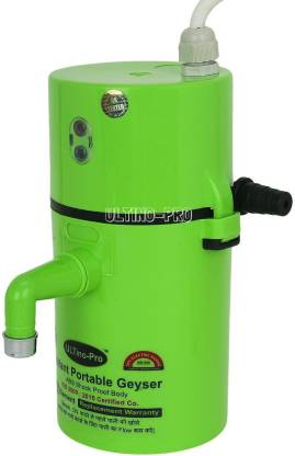 UltinoPro 1 L Instant Water Geyser (Indias ULT-ino Pro Instant Electric Water Geyser || ABS Body- Shock Proof || Electric Saving|| 24 Month replacement Warranty (Green), Green)