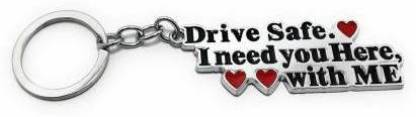 eweft Drive Safe Exclusive Metal Keychain For Lovers\ Best friends Key Chain