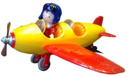 FUNSKOOL NODDY MOTOR MIX PLANE & NODDY ACTION FIGURE , RARE, COLLECTIBLE, GREAT FOR GIFTS