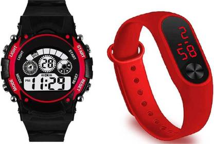 TCT VITREND Barbie New Designed Analogue Watch for Boys and Girls , Multicolour (Pink/Red/Black/White/Green or Any Other Color Will Sent As Per Stock Availability) -Combo Set of 2 Pack
