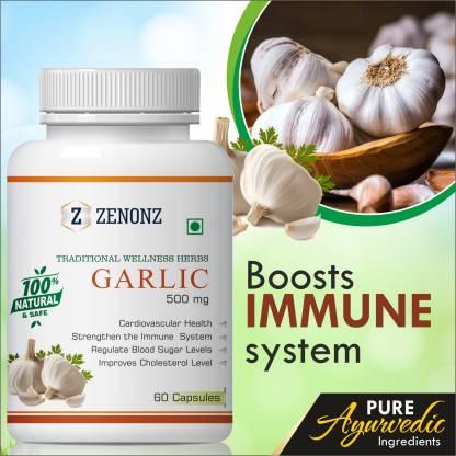zenonz Garlic Manage Immiune System & Regulates Blood Sugar Level 100% Natural
