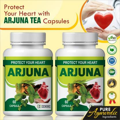 zenonz Arjuna Tea Herbal caspules For Helps Maintain Heart Healthy 100% Ayurvedic (120 Capsules)