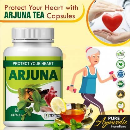 zenonz arjun tea herb essential for heart care capsules