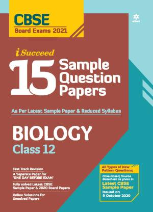 Cbse New Pattern 15 Sample Paper Biology Class 12 for 2021 Exam with Reduced Syllabus
