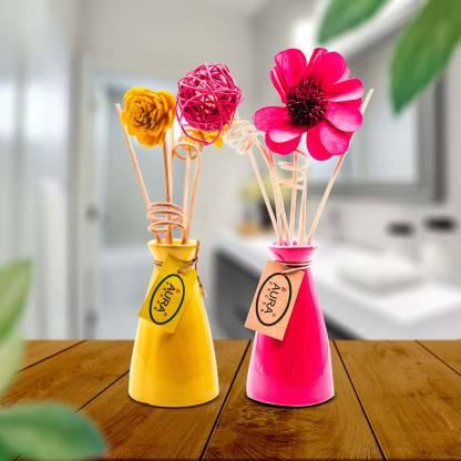 AuraDecor Floral Diffuser Set