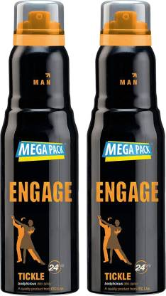 Engage Tickle Deodorant, 220ml Deodorant Spray  -  For Men & Women