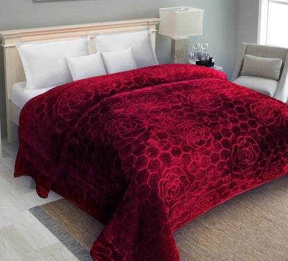 IWS Self Design Double Mink Blanket