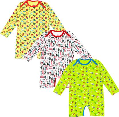 Ariel Romper For Baby Boys & Baby Girls Casual Printed Cotton Blend
