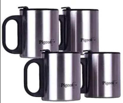 Pigeon COSCO CUP DOUBLE WALL STEEL SET 4 Stainless Steel Coffee Mug