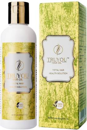 TRUYOU Hair Regrowth oil | Sulfate and Mineral Free | with Coconut | Bhring Raj | Amla | Neem | Chandan | For Anti-hair Fall | Anti Dandruff | Weak Hair Roots, Premature Greying, Unhealthy Hair | Premium All Natural  Hair Oil