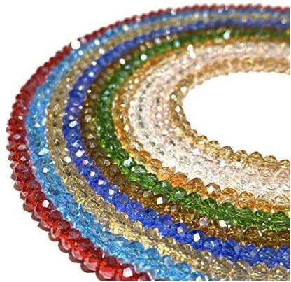 Abc Gems Usa [ABCgems] AB-Finished 10 Strands Wholesale Lot (Exquisite ColorBeautiful Luster) Crystal Glass Faceted 4mm Diamond-Cut R
