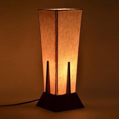 ExclusiveLane Sheesham Wooden Pyramid Table Lamp