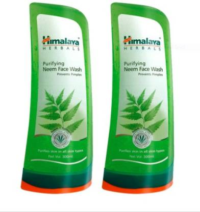HIMALAYA PURIFYING NEEM FACE WASH 300ML (pack of 2)