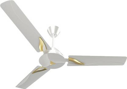 CROMPTON Modern Leaf Pearl-white-gold 1200 mm ceiling fan high speed I Double Ball Bearing With 390 RPM Highest Air Delivery I 100 % Copper Winding I Made In India 1200 mm Ultra High Speed 3 Blade Ceiling Fan 1200 mm Ultra High Speed 3 Blade Ceiling Fan