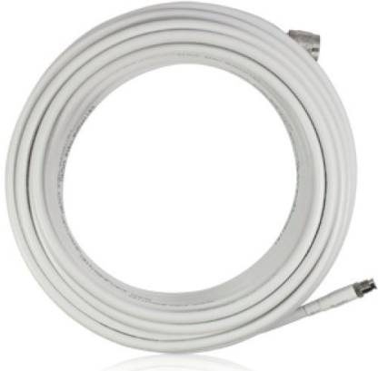 dhanwati creation LMR 300 RF Communications Coaxial Cable for Indoor/Outdoor Usage 15M Padma Enterprises White 15 m Wire