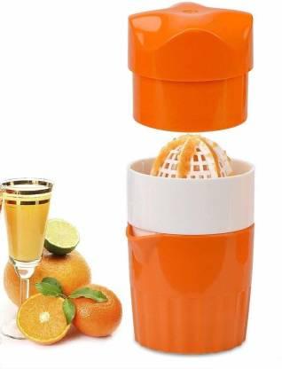CLOUDTAIL CHOICE Plastic Hand Juicer Portable Manual Citrus Juicer for Orange Lemon Fruit Squeezer Orange Juice Cup Child Healthy Life Potable Juicer Machine