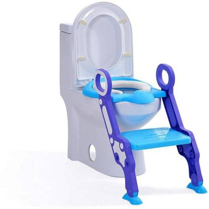LAFILLETTE Kids Potty Training Seat with Step Ladder and Soft Toilet Seat, Sturdy Comfortable Built in Non-Slip Steps Soft Pad Potty Seat