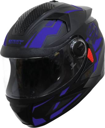 Steelbird SBH-17 Terminator Full Face Graphic Helmet in Matt Blue Motorbike Helmet