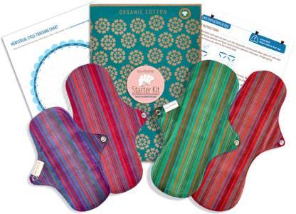 Eco Femme Vibrant Organic Starter Kit Sanitary Pad