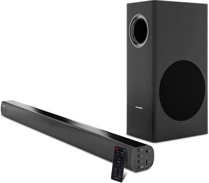 Blaupunkt SBW50 With HDMI-ARC 120 W Bluetooth Soundbar(Black, 2.1 Channel)
