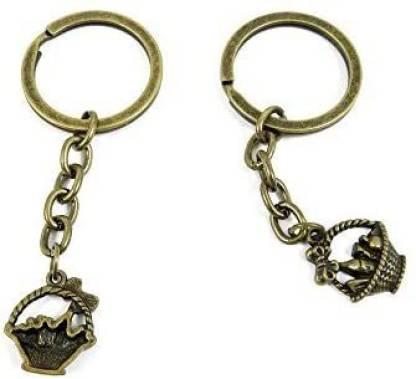 YUANLAI 1 Pcs Keyring Car Door Key Ring Tag Chain Keychain Wholesale Suppliers Charms Handmade R5Si3 Vegetable Basket