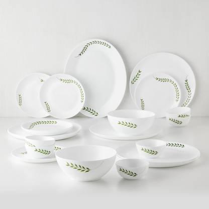Larah by Borosil Pack of 21 Opalware Moon - Botanica Dinner Set