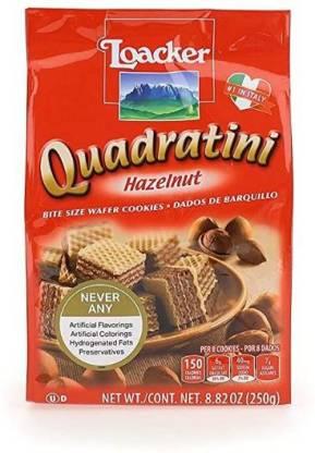 LOACKER Quadratini Wafer Hazelnut (Imported) Cream Filled