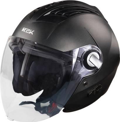 Steelbird SBA-3 R2K Classic Open Face Helmet in Black Motorbike Helmet