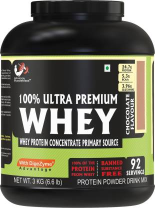 Muscle Mass Whey Protein | 24 g protein | Raw Whey from USA | Whey Protein