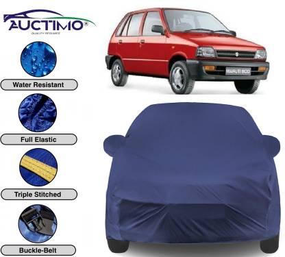 AUCTIMO Car Cover For Maruti Suzuki 800 (With Mirror Pockets)