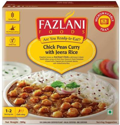 FAZLANI FOODS Chickpeas Curry with Jeera Rice (1 Pack-300gms) 300 g
