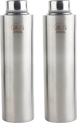 AKG Stainless Steel Water Bottle for Home/Office/Gym/School/Collage 1000 ml Bottle