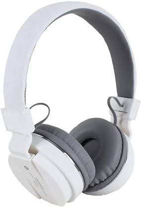 Oxhox Racers 512 Super Extra Bass Bluetooth Headset(White, On the Ear)