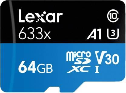 Lexar 633x 64 GB MicroSD Card Class 10 95 MB/s  Memory Card