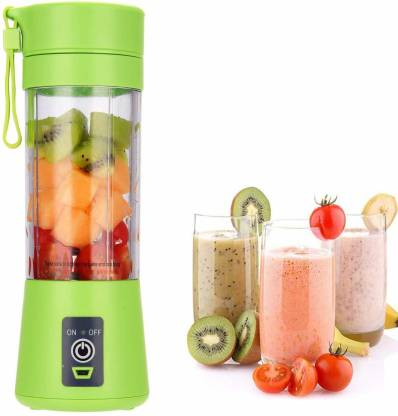 Enormity Hand Juicer : Juices without electricity, keeps juice fresh for the longest time 4 Blades Portable Rechargeable USB Juicer Bottle Blender | Rechargeable USB Juicer Blender Bottle with USB Charging Cable | Juicer Grinder Mixer Blender Juice Cup (380 ml, Multicolour) 10 Juicer Mixer Grinder (1 Jar, Green)